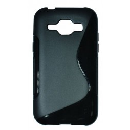 Samsung Galaxy J1 - Gumiran ovitek (TPU) - črn SLine