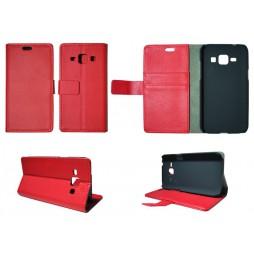 Samsung Galaxy J1 - Preklopna torbica (WL) - rdeča