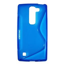 LG Spirit 4G LTE - Gumiran ovitek (TPU) - modro-prosojen SLine