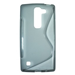 LG Spirit 4G LTE - Gumiran ovitek (TPU) - sivo-prosojen SLine
