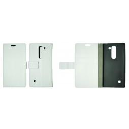LG Spirit 4G LTE - Preklopna torbica (WL) - bela