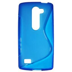 LG Leon - Gumiran ovitek (TPU) - modro-prosojen SLine