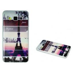 Samsung Galaxy A3 - Gumiran ovitek (TPUP) - Colorful Eiffel tower