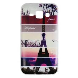 Samsung Galaxy J1 - Gumiran ovitek (TPUP) - Colorful Eiffel tower