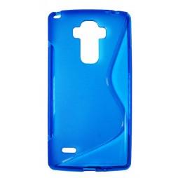 LG G4 Stylus - Gumiran ovitek (TPU) - modro-prosojen SLine