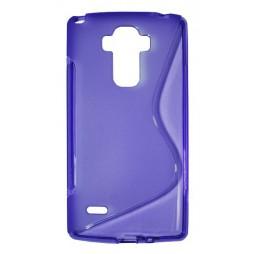 LG G4 Stylus - Gumiran ovitek (TPU) - vijolično-prosojen SLine