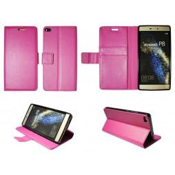 Huawei P8 - Preklopna torbica (WLG) - roza