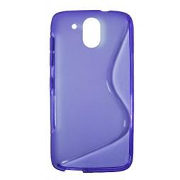 HTC Desire 526 - Gumiran ovitek (TPU) - vijolično-prosojen SLine
