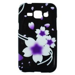 Samsung Galaxy J1 - Gumiran ovitek (TPUP) - Black white flowers