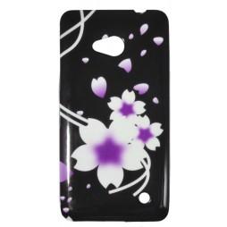 Microsoft Lumia 640 LTE - Gumiran ovitek (TPUP) - Black white flowers
