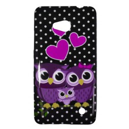 Microsoft Lumia 640 LTE - Gumiran ovitek (TPUP) - Owls in lowe