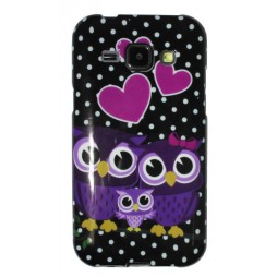 Samsung Galaxy J1 - Gumiran ovitek (TPUP) - Owls in lowe