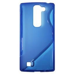 LG G4c/Magna/L Bello Plus - Gumiran ovitek (TPU) - modro-prosojen SLine