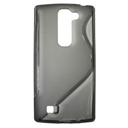 LG G4c/Magna/L Bello Plus - Gumiran ovitek (TPU) - sivo-prosojen SLine