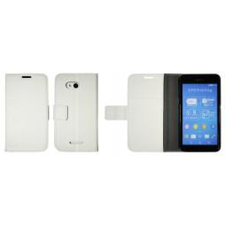 Sony Xperia E4g - Preklopna torbica (WLG) - bela