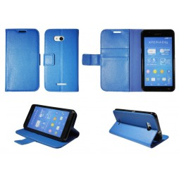 Sony Xperia E4g - Preklopna torbica (WLG) - modra