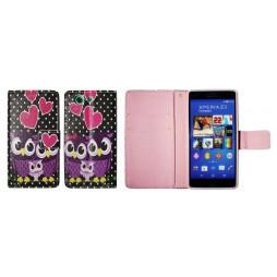 Sony Xperia Z3 Compact/Mini - Preklopna torbica (WLGP) - Night owls