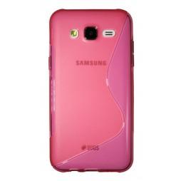Samsung Galaxy J5 - Gumiran ovitek (TPU) - roza-prosojen SLine