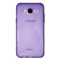 Samsung Galaxy J5 - Gumiran ovitek (TPU) - vijolično-prosojen SLine