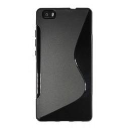 Huawei P8 Lite - Gumiran ovitek (TPU) - črn SLine