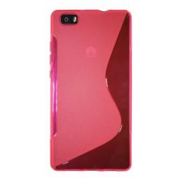 Huawei P8 Lite - Gumiran ovitek (TPU) - roza-prosojen SLine
