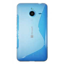 Microsoft Lumia 640 XL - Gumiran ovitek (TPU) - belo-prosojen SLine