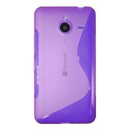 Microsoft Lumia 640 XL - Gumiran ovitek (TPU) - vijolično-prosojen SLine