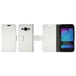 Samsung Galaxy J1 - Preklopna torbica (WLG) - bela