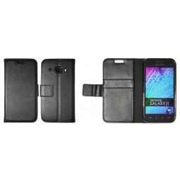 Samsung Galaxy J1 - Preklopna torbica (WLG) - črna