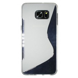 Samsung Galaxy S6 Edge Plus - Gumiran ovitek (TPU) - belo-prosojen SLine
