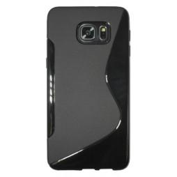 Samsung Galaxy S6 Edge Plus - Gumiran ovitek (TPU) - črn SLine