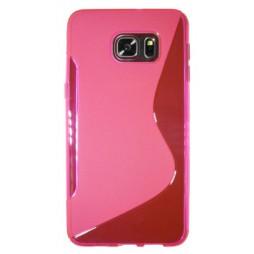 Samsung Galaxy S6 Edge Plus - Gumiran ovitek (TPU) - roza-prosojen SLine