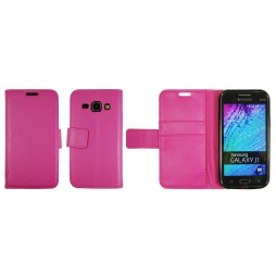 Samsung Galaxy J1 - Preklopna torbica (WLG) - roza