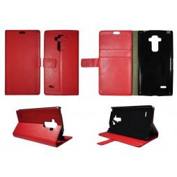 LG G4 Stylus - Preklopna torbica (WL) - rdeča