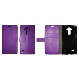 LG G4 Stylus - Preklopna torbica (WL) - vijolična
