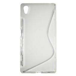 Sony Xperia Z5 - Gumiran ovitek (TPU) - belo-prosojen SLine