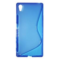 Sony Xperia Z5 - Gumiran ovitek (TPU) - modro-prosojen SLine