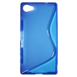 Sony Xperia Z5 Compact - Gumiran ovitek (TPU) - modro-prosojen SLine