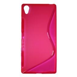 Sony Xperia Z5 Premium - Gumiran ovitek (TPU) - roza-prosojen SLine
