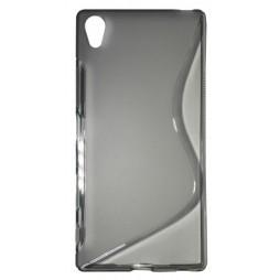 Sony Xperia Z5 Premium - Gumiran ovitek (TPU) - sivo-prosojen SLine