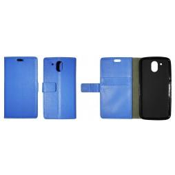 HTC Desire 526 - Preklopna torbica (WLG) - modra