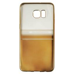 Samsung Galaxy S6 Edge Plus - Gumiran ovitek (TPUE) - pol zlat