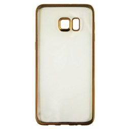 Samsung Galaxy S6 Edge Plus - Gumiran ovitek (TPUE) - rob zlat