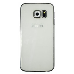 Samsung Galaxy S6 Edge Plus - Gumiran ovitek (TPUE) - rob srebrn