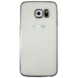 Samsung Galaxy S6 Edge - Gumiran ovitek (TPUE) - rob srebrn