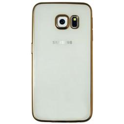 Samsung Galaxy S6 Edge - Gumiran ovitek (TPUE) - rob zlat