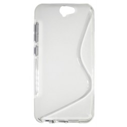 HTC One A9 - Gumiran ovitek (TPU) - belo-prosojen SLine