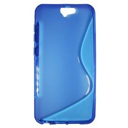 HTC One A9 - Gumiran ovitek (TPU) - modro-prosojen SLine