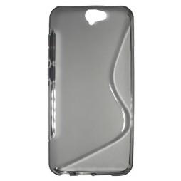 HTC One A9 - Gumiran ovitek (TPU) - sivo-prosojen SLine
