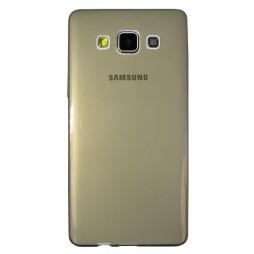 Samsung Galaxy A5 - Gumiran ovitek (TPUA) - sivo-prosojen